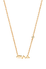 Mrs Necklace with Diamond Bezel in Yellow Gold