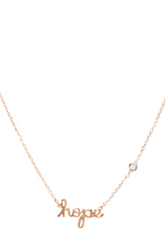 Hope Necklace with Diamond Bezel in Rosegold