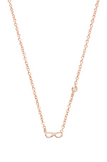 Infinity Necklace with Diamond Bezel in Rose Gold