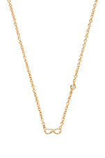 Infinity Necklace with Diamond Bezel in Yellow Gold