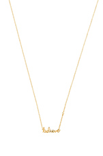 Believe Necklace in Yellow Gold