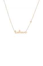 Believe Necklace in Rosegold