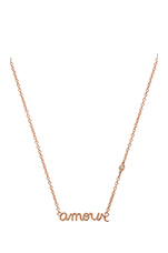 Amour Necklace in Rose Gold