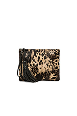 The Dash Clutch in Jaguar Print