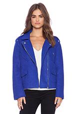 Blue Smoke Biker Jacket in Blue