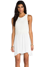 The Message Lace Dress in White
