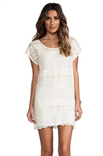 Dimensions Lace Tee Dress in Bone
