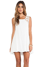The Silence Lace Dress in White