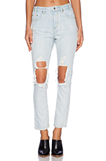 Gazer Rigid Denim Boyfriend in Ice Blue
