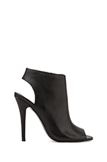 Roknrol Heel Bootie in Black Leather
