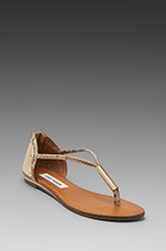 Reader Sandal in Gold Snake