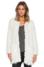 Chubby Faux Fur Jacket in Ivory