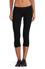 Basic Crop Legging in Black