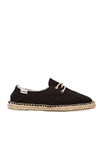Canvas Derby Lace Up in Black