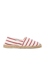Classic Stripe Flat in White & Red
