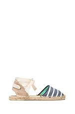 Classic Sandal Stripes in Light Navy Stripe