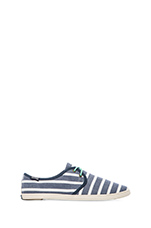 Sand Shoe Lace Up Classic in Light Navy White