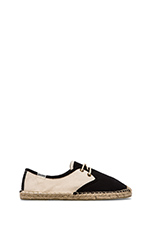 Colorblock Derby Lace Up in Black Natural