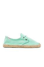 Derby Lace Up in Aqua