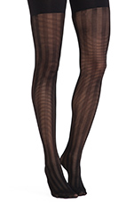 Lined Up Tights in Black