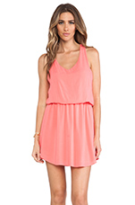 Tank Dress in Coral Pink