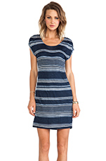 Safari Stripe Dress in Navy