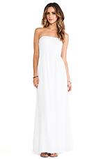 Strapless Maxi Dress in White