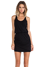Ruched Dress in Black