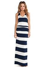 Luna Lake Stripe Maxi Dress in Navy