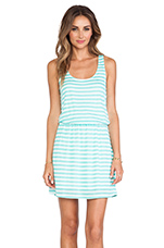 Stripe Mini Dress in Waterfall