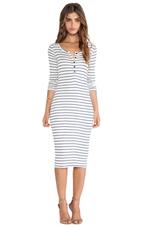 New Haven Stripe Dress in White