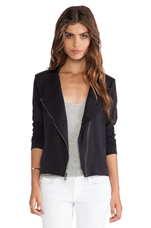 Bray Active Faux Leather Mix Jacket in Black