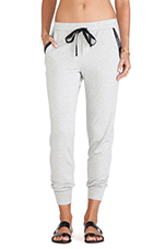 Bray Active Faux Leather Trim Pant