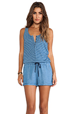 Mini Romper in Medium Wash
