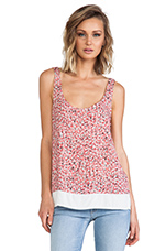 African Wildflower Tank in Coral Pink