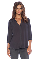 Long Sleeve Top in Gunmetal