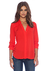 Long Sleeve Top in Paprika