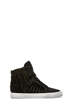 Nocturne Skytop Sneaker with Pony Hair in Black Pony Hair