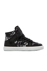 Vaider Sneaker in Black & White Textile