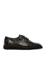 Lou 4 Oxford in Black Pattern & Black Sole