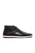 Frank 4 Sneaker in Black Leather