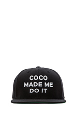 Coco Made Me Snapback in Black