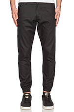 Essex Coated Jogger in Black