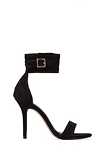 Mauryce Heel in Black Nubuck