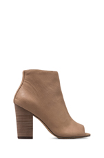Clara Bootie in Taupe Leather