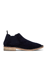 Dylyn Bootie in Navy Suede