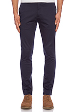 Chic Slim Fit Chino Pant in Navy