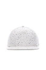 Leather Speckle Hat in White