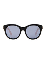 x FASHIONTOAST Paris Sunglasses in Gloss Black and Peach