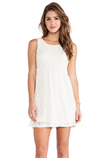 Ivory Lace Scoop Back Dress in Ivory